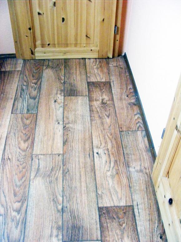 PVC Fußbodenbelagsarbeit