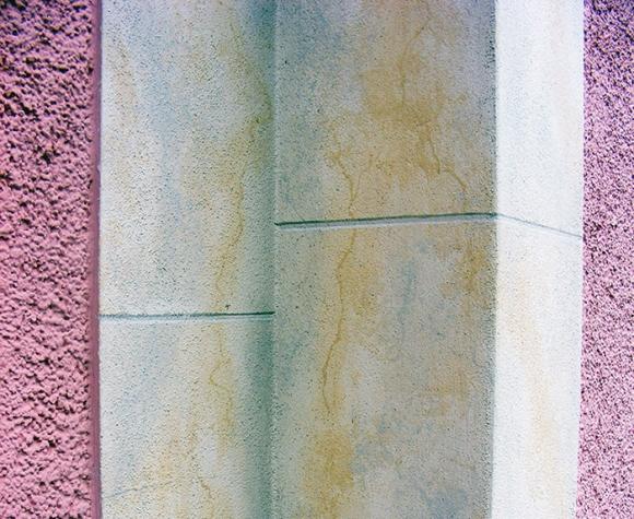 Fassadenrenovierung eines Einfamilienhauses im Haselbachtal mit Sandstein Imitation